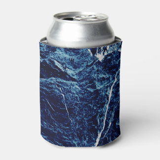 Blue Abstract Pattern Can Cooler