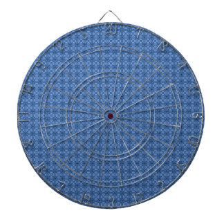 Blue abstract pattern dartboard