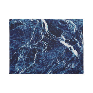 Blue Abstract Pattern Doormat