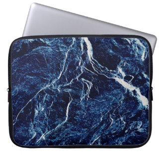 Blue Abstract Pattern Laptop Computer Sleeve