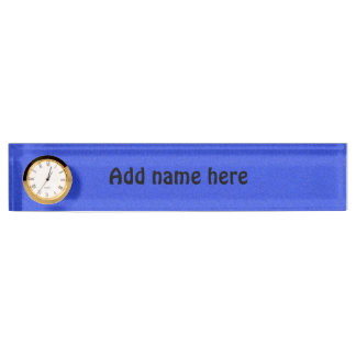 Blue abstract pattern nameplate