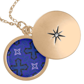 Blue Abstract pattern Pendants