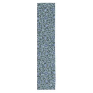 Blue abstract pattern short table runner