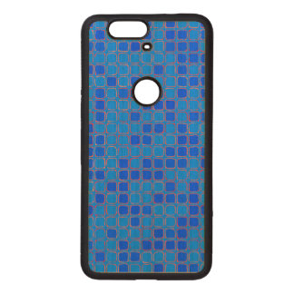 Blue Abstract Pattern Wood Nexus 6P Case