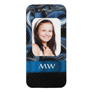 Blue abstract photo template case for iPhone 5/5S