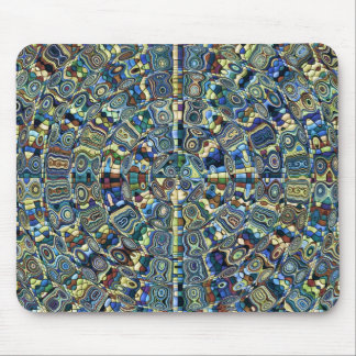 Blue Abstract Pond Mouse Pads