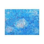 Blue Abstract Printed Pattern. Canvas Print