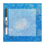 Blue Abstract Printed Pattern Dry Erase White Board