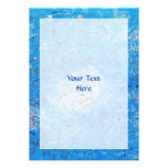 Blue Abstract Printed Pattern. Personalised Invites