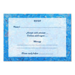 Blue Abstract Printed Pattern 9 Cm X 13 Cm Invitation Card
