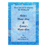 Blue Abstract Printed Pattern Personalised Announcements