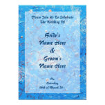 Blue Abstract Printed Pattern 13 Cm X 18 Cm Invitation Card