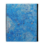 Blue Abstract Printed Pattern. iPad Cases