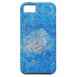 Blue Abstract Printed Pattern iPhone 5 Case