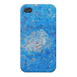 Blue Abstract Printed Pattern Case For The iPhone 4