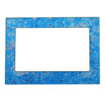 Blue Abstract Printed Pattern Magnetic Frame
