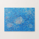 Blue Abstract Printed Pattern Puzzle