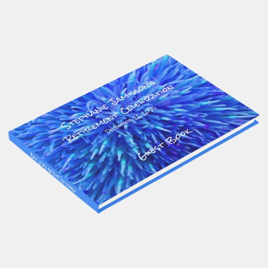 Blue Abstract Retirement Party Memory/Guest Book