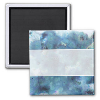Blue Abstract. Square Magnet