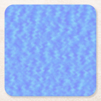 Blue Abstract Square Paper Coaster