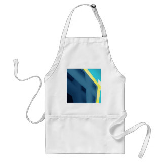Blue Abstract Standard Apron