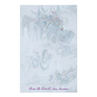 Blue Abstract Stationery