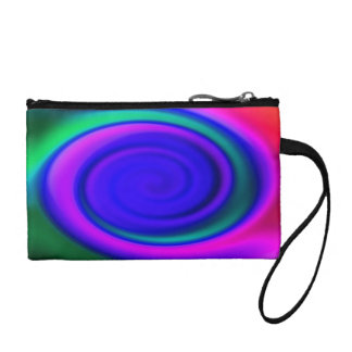 Blue Abstract Swirl Pattern Coin Purse