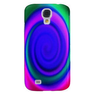 Blue Abstract Swirl Pern Galaxy S4 Case