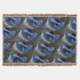 Blue Abstract Throw Blanket