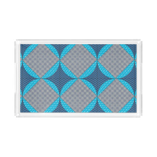 Blue Abstract Tray