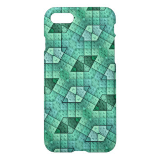Blue abstract unique block pattern iPhone 8/7 case