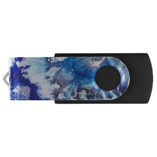 Blue Abstract USB Flash Drive