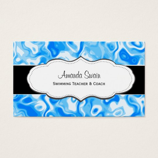 Blue abstract water texture Business Cards