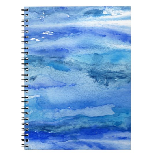 Blue Abstract Watercolor Notebooks