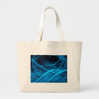 blue abstract wave shiny energy background canvas bag