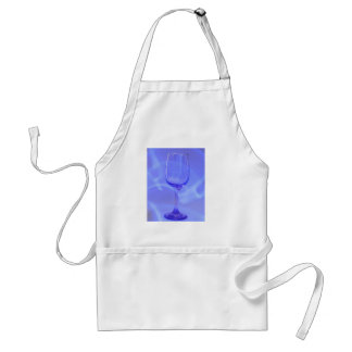 Blue Abstract Wine Glass Standard Apron