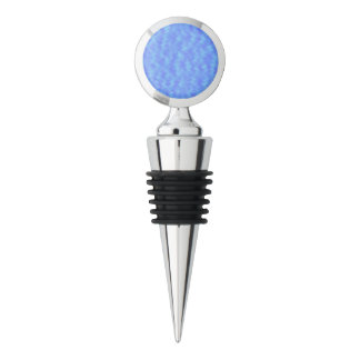 Blue Abstract Wine Stopper