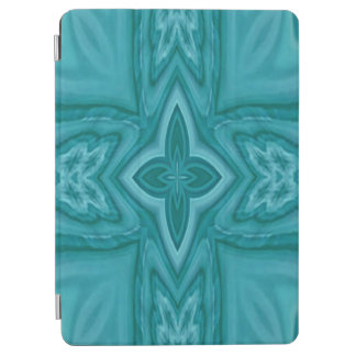 Blue abstract wood cross iPad air cover