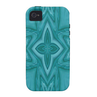 Blue abstract wood cross iPhone4 case
