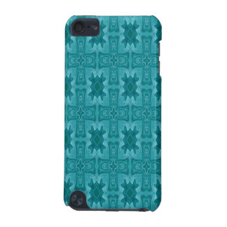 Blue abstract wood cross iPod touch 5G cases