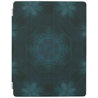 Blue abstract wood iPad cover