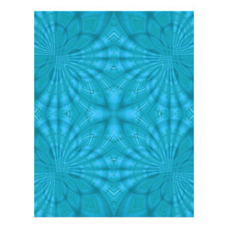 Blue abstract wood Pattern Flyers