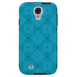 Blue abstract wood Pattern Galaxy S4 Case
