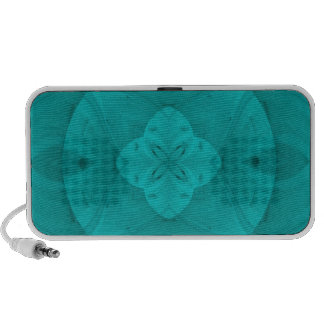 Blue abstract wood pattern travelling speaker