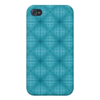 Blue Abstract wood pern iPhone 4/4S Cover