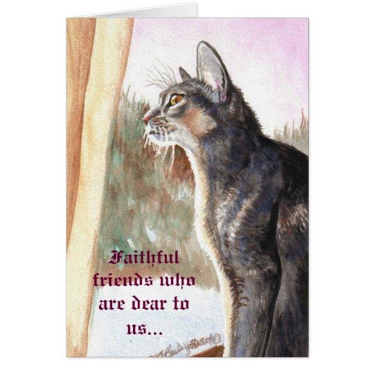 """Blue Abyssinian """"Faithful Friends"""" Christmas Card"""