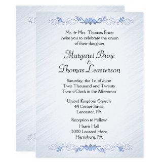 Blue Accent Wedding Invitations
