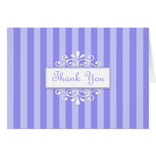 Blue Accented Thank You Greeting Card