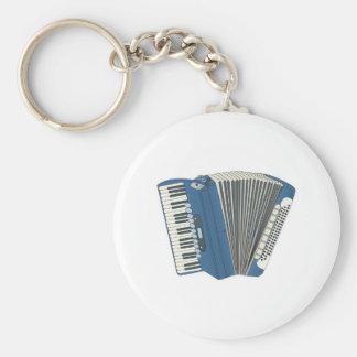 blue accordian basic round button key ring