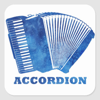 Blue Accordion Square Sticker
